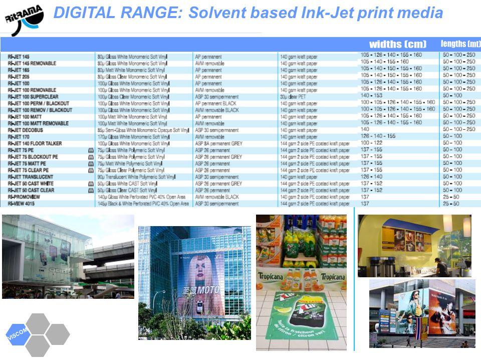 VISCOM DIGITAL RANGE: Solvent based Ink-Jet print media