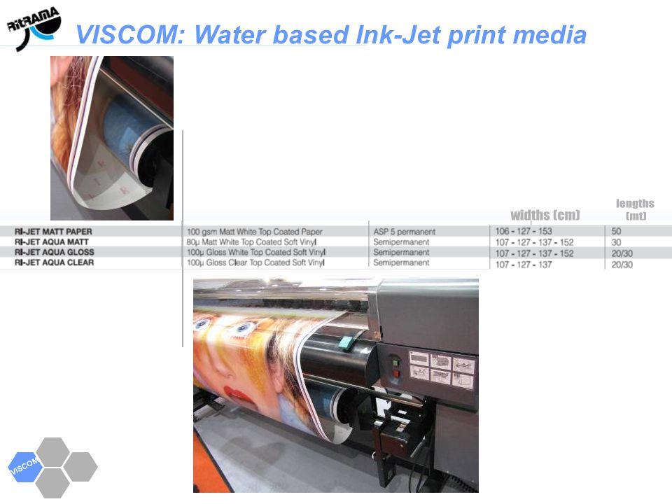 VISCOM VISCOM: Water based Ink-Jet print media