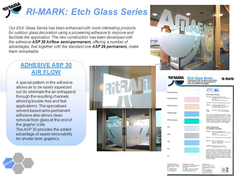 RI-MARK Series VISCOM Transparent Series Self adhesive material for plotter.