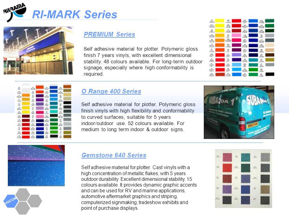 RI-MARK Series VISCOM L100 Series Self adhesive material for plotter.