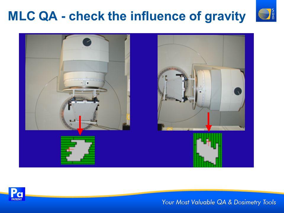 MLC QA - check the influence of gravity