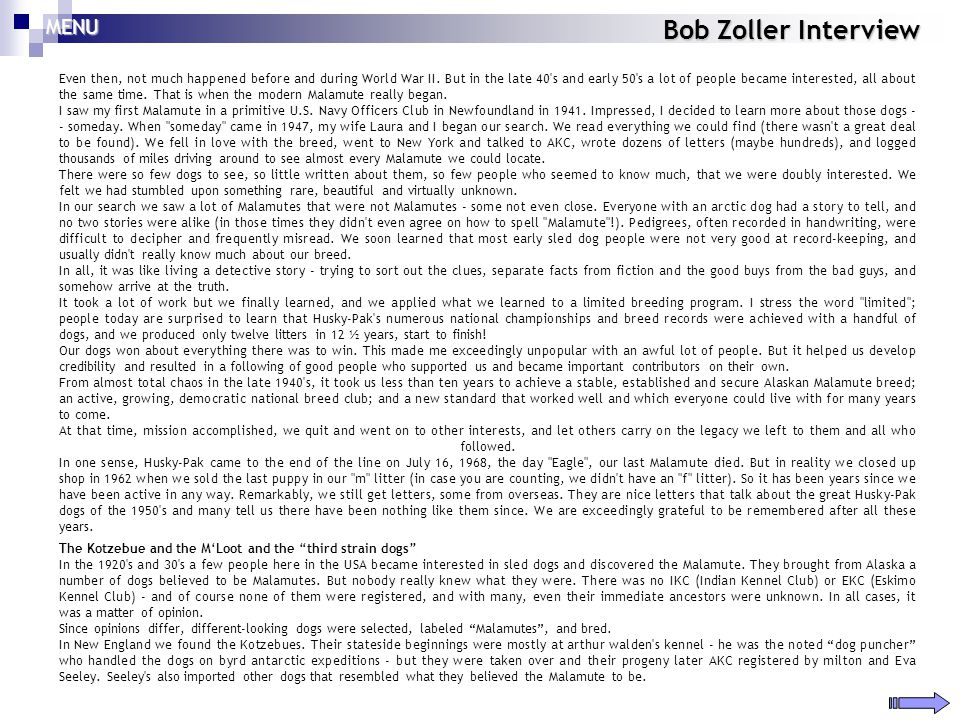 Bob Zoller Interview Even then, not much happened before and during World War II. But in the late 40's and early 50's a lot of people became intereste