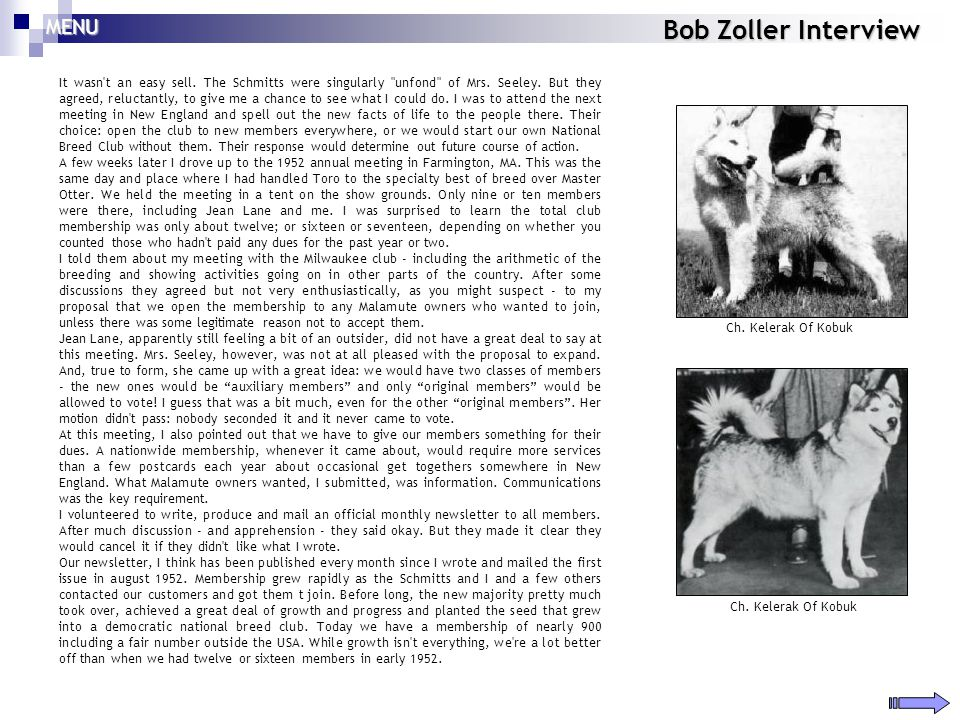 Bob Zoller Interview It wasn't an easy sell. The Schmitts were singularly