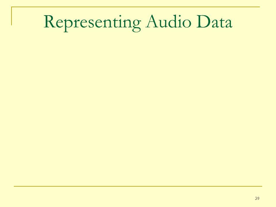 39 Representing Audio Data