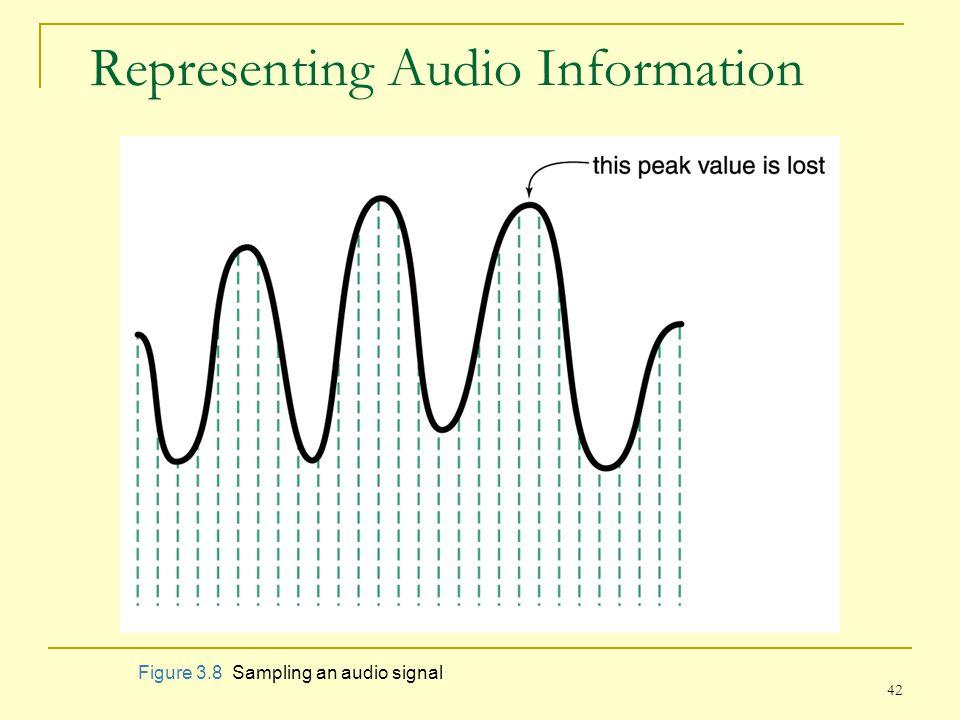 42 Representing Audio Information Figure 3.8 Sampling an audio signal