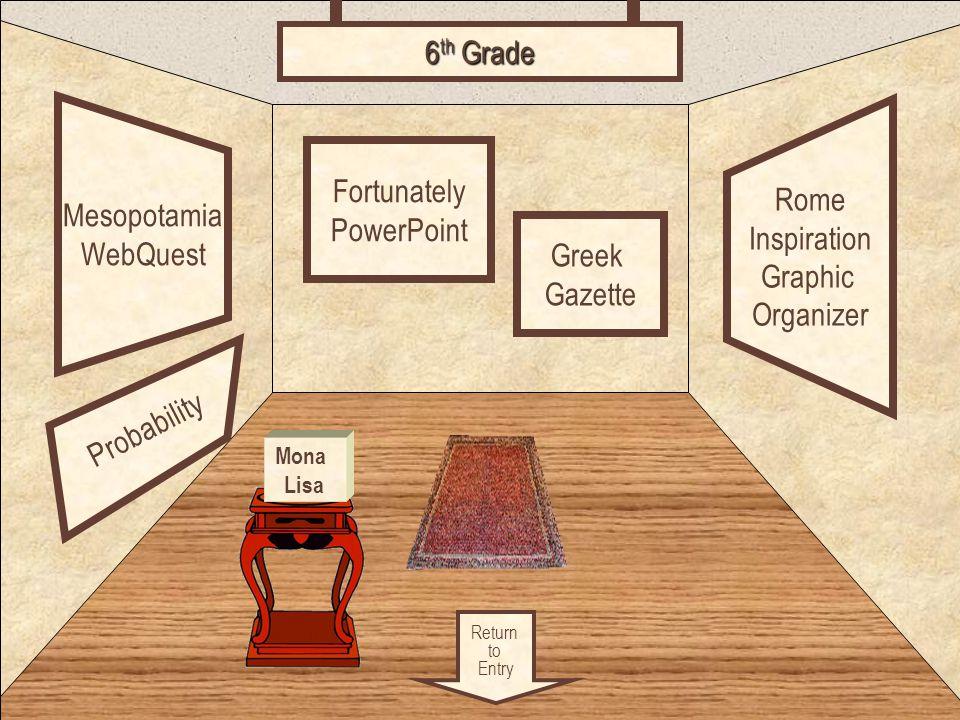Room 5 Mesopotamia WebQuest Rome Inspiration Graphic Organizer Fortunately PowerPoint 6 th Grade Greek Gazette Mona Lisa Probability Return to Entry