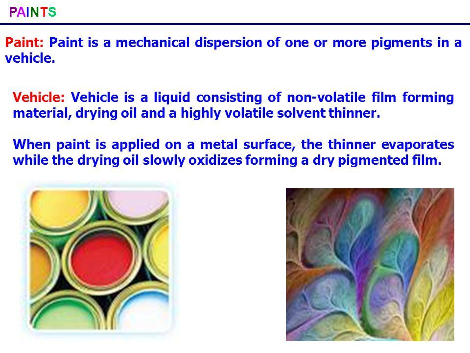 PAINTSPAINTS Requisites (Characteristics) of a good paint: A good paint should possess the following characteristics, It should have a high covering power, corrosion and water resistance.