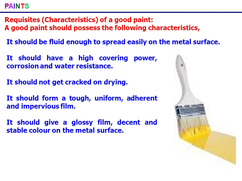 PAINTSPAINTS Constituents of paint and their functions: Pigments: Pigments are solid, colour producing substances.