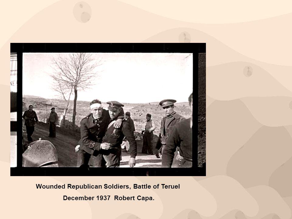 Wounded Republican Soldiers, Battle of Teruel December 1937 Robert Capa.