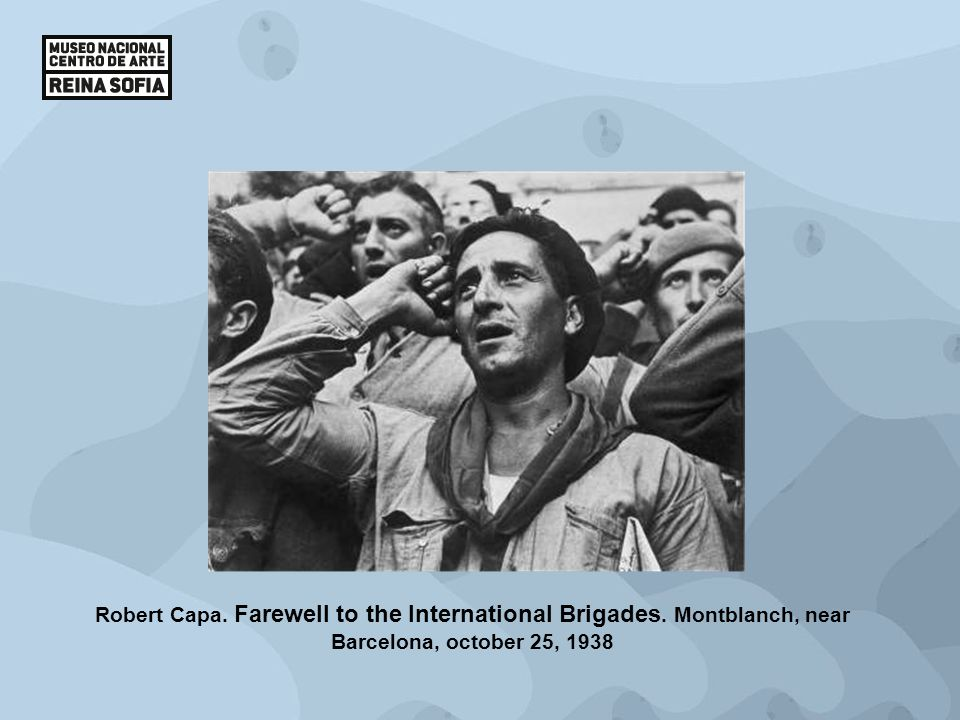 Robert Capa. Farewell to the International Brigades. Montblanch, near Barcelona, october 25, 1938