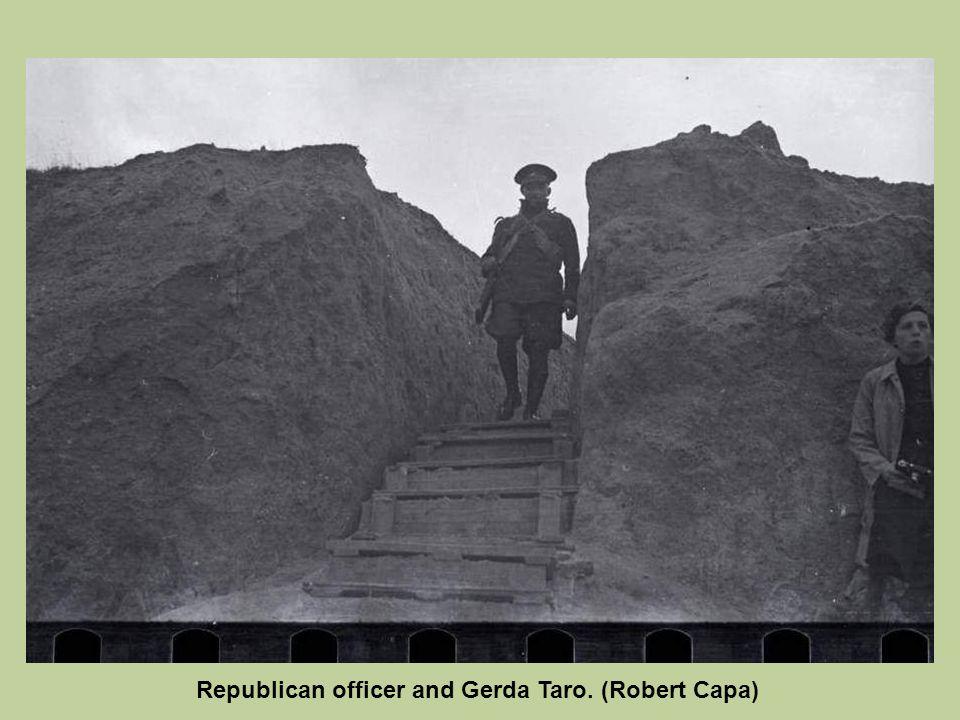 Republican officer and Gerda Taro. (Robert Capa)