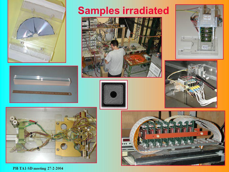 PH-TA1-SD meeting 27-2-2004 Samples irradiated