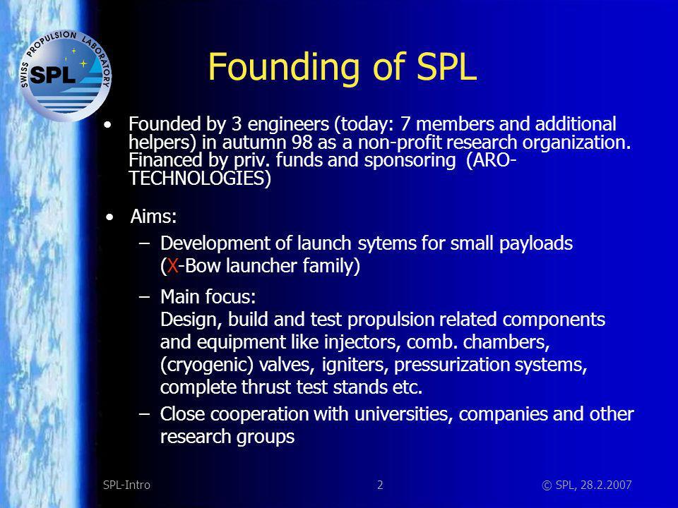 23SPL-Intro© SPL, 28.2.2007 Solid Propulsion Magnesium/Teflon igniter