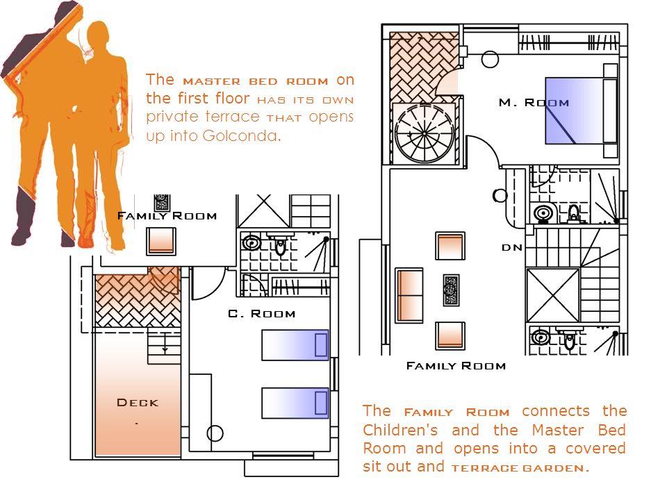 Family Room dn M. Room C. Room Deck.