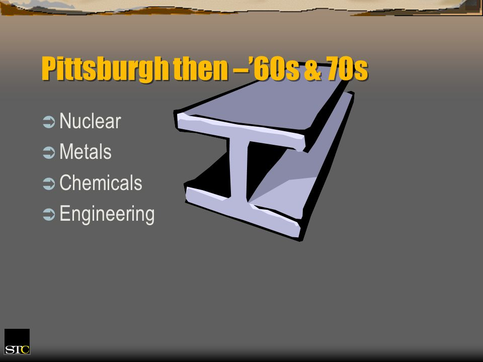 Pittsburgh then –60s & 70s Nuclear Metals Chemicals Engineering