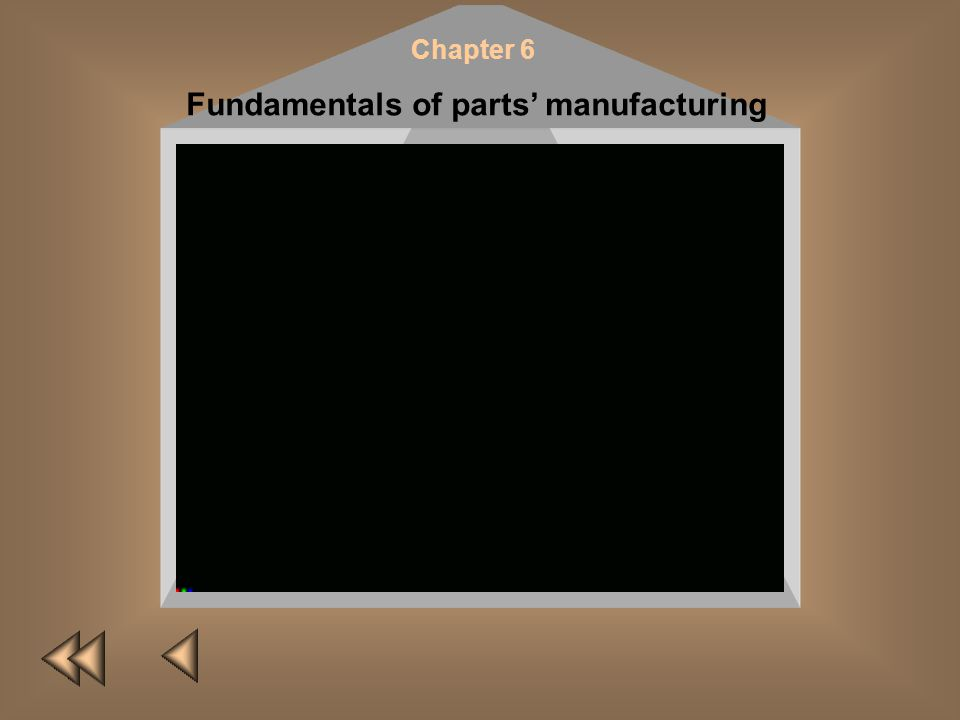 Chapter 6 Fundamentals of parts manufacturing A. M. Dalsci A. S. Vasiliev The technology of machine-building manufacture represents a set of various t