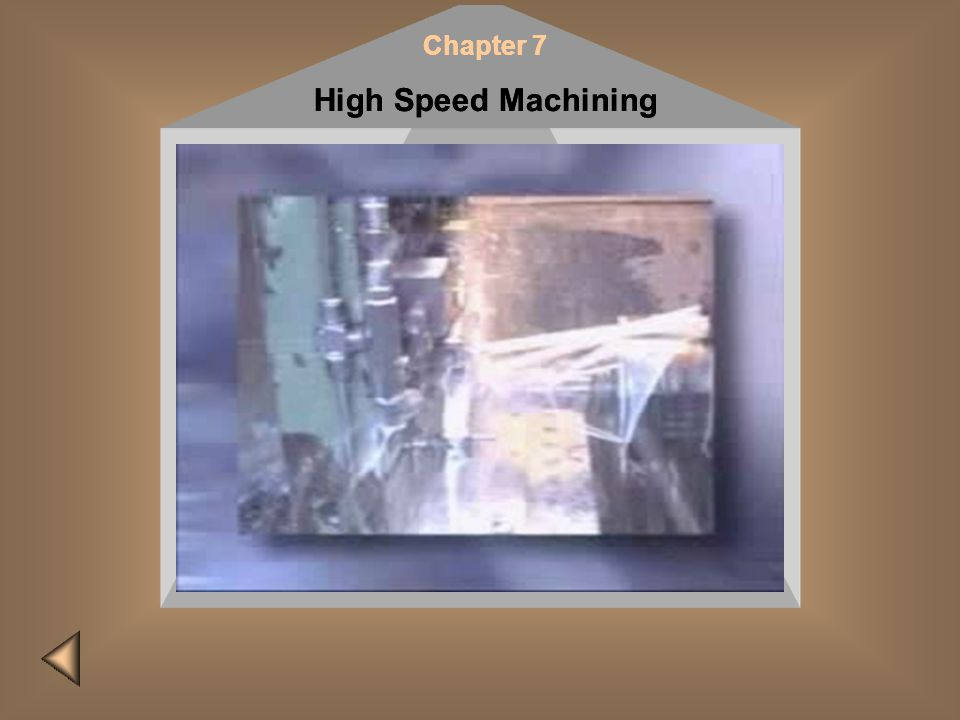 Insert CD #2 and click here Chapter 7 High Speed Machining