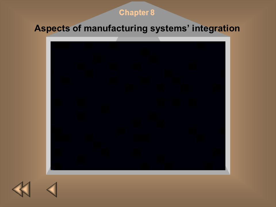 Chapter 8 Aspects of manufacturing systems integration A. I. DashchenkoW. PollmannO. A. Dashchenko This chapter presents research conducted within the