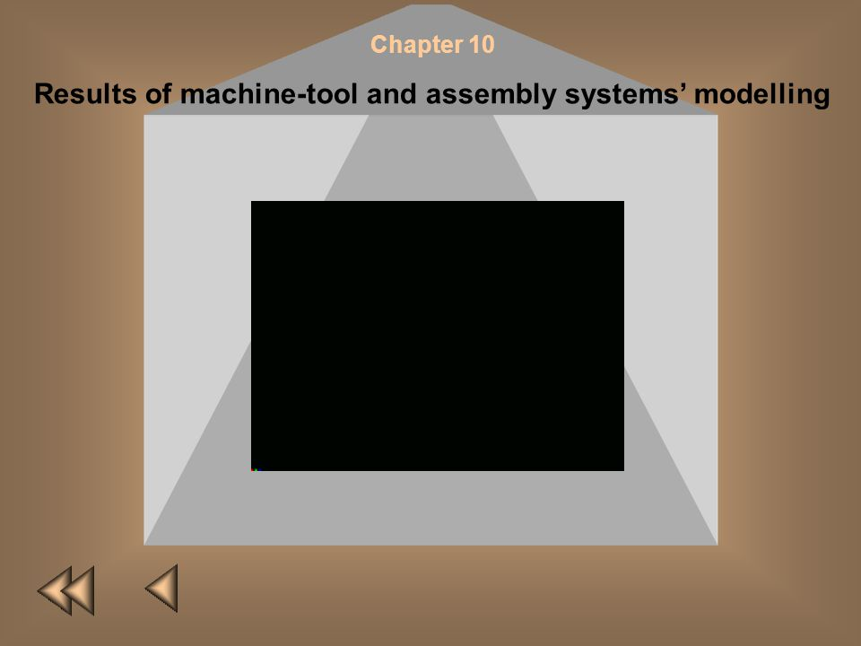 Chapter 10 Results of machine-tool and assembly systems modelling NEXT VIDEO