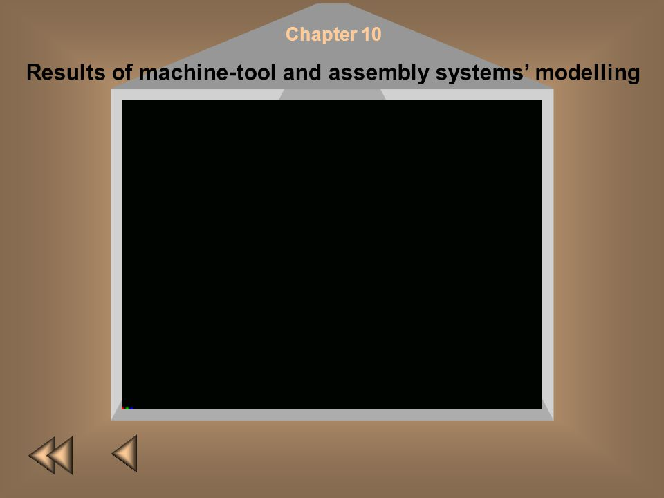 Chapter 10 Results of machine-tool and assembly systems modelling Statistical simulation is used to analyse complex manufacturing systems (MS). The me