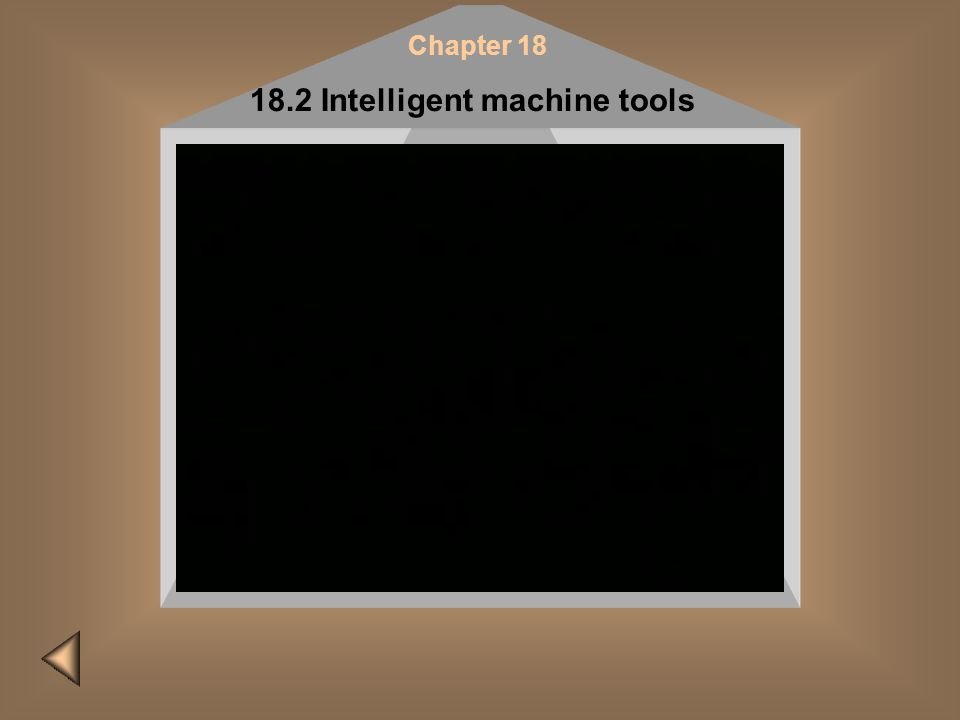 Please do it later! Insert CD #2 and restart the presentation to view this film Chapter 18 18.2 Intelligent machine tools