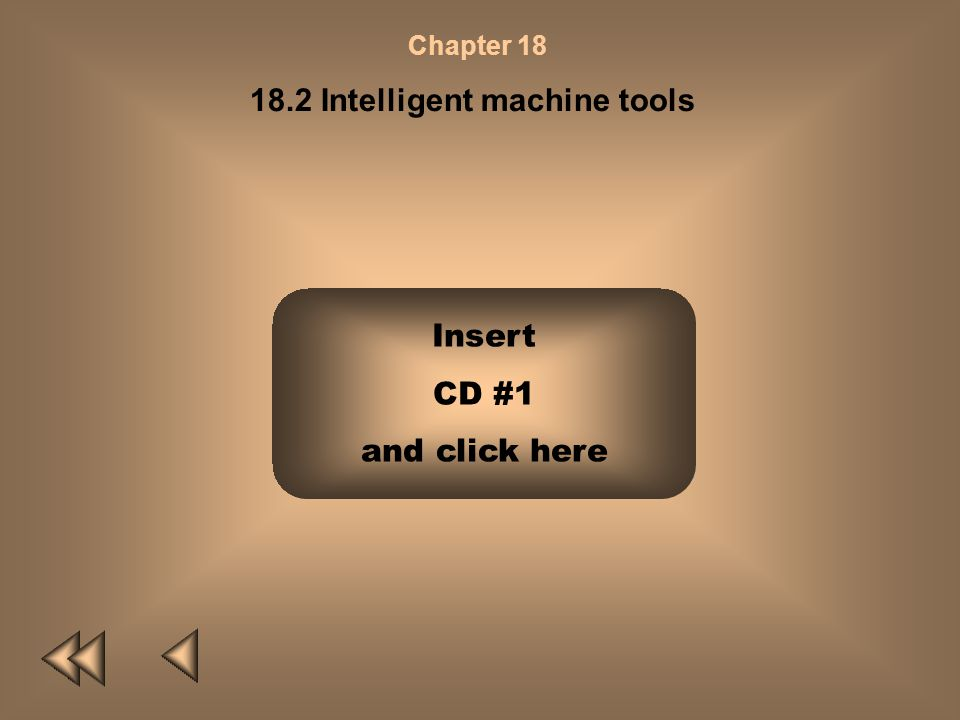 Chapter 18 18.2 Intelligent machine tools