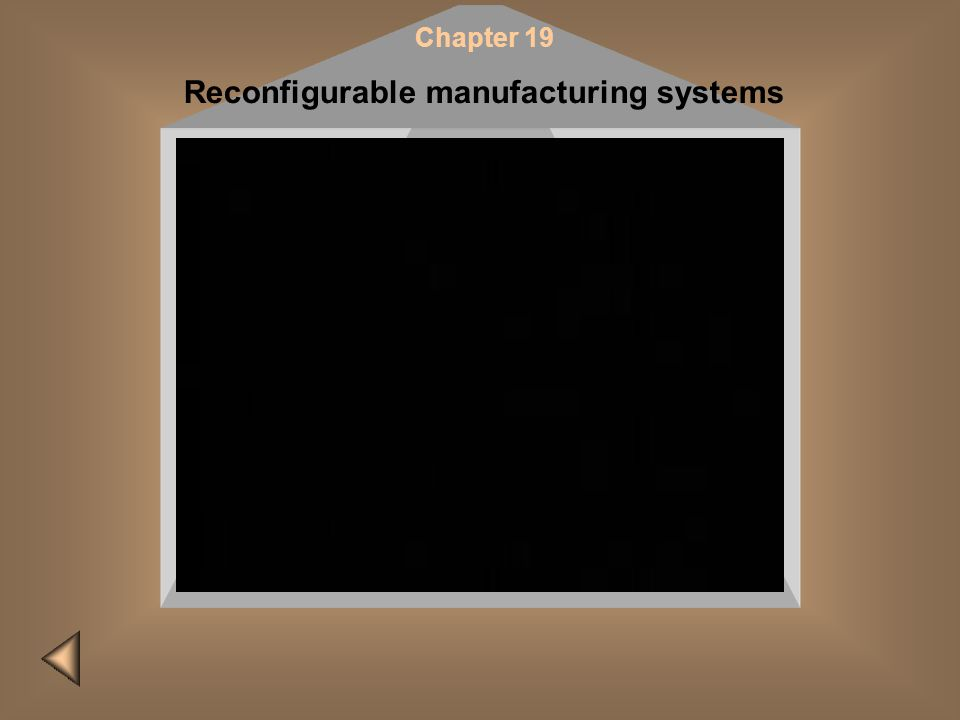Chapter 19 Reconfigurable manufacturing systems Please do it later! Insert CD #2 and restart the presentation to view this film