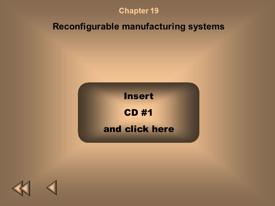 Chapter 19 Reconfigurable manufacturing systems