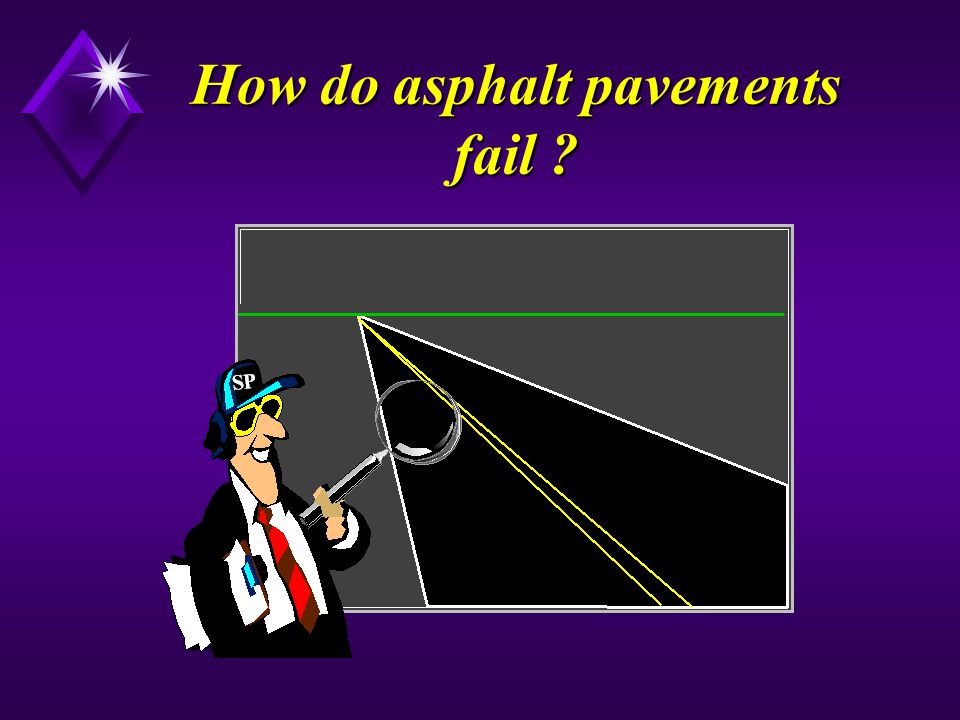 How do asphalt pavements fail ?