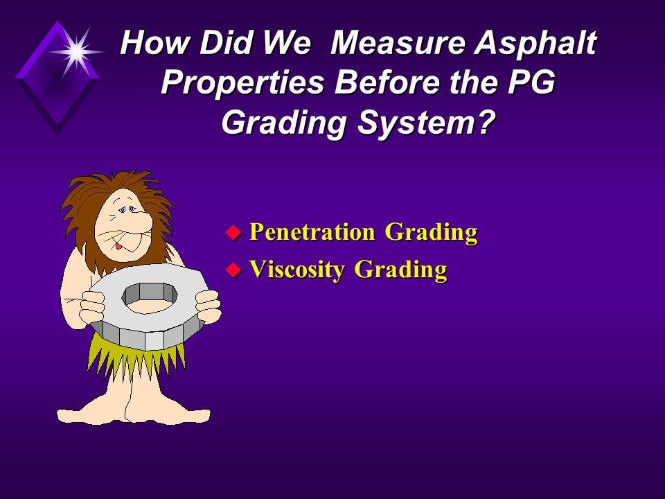 How Did We Measure Asphalt Properties Before the PG Grading System.