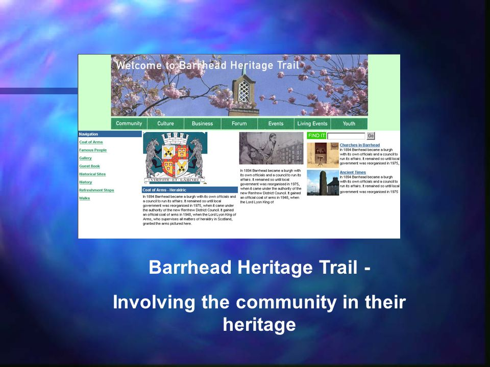 Barrhead Heritage Trail - Involving the community in their heritage