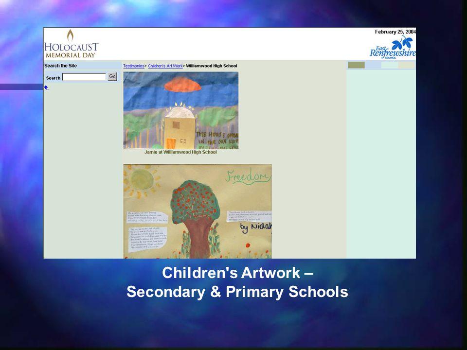 Children s Artwork – Secondary & Primary Schools