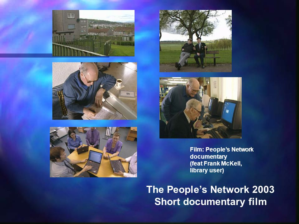 The Peoples Network 2003 Short documentary film Film: Peoples Network documentary (feat Frank McKell, library user)