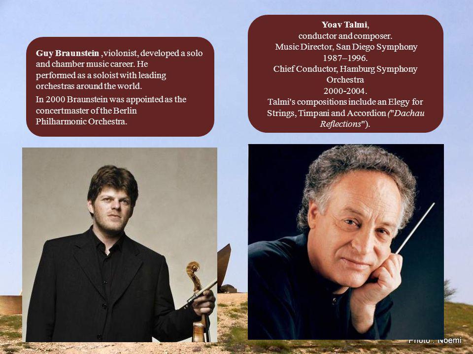 Shlomo Mintz and Pinchas Zukerman are violin virtuosos, violists and conductors.