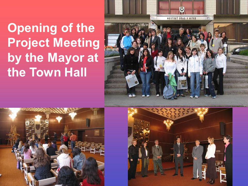 Opening of the Project Meeting by the Mayor at the Town Hall
