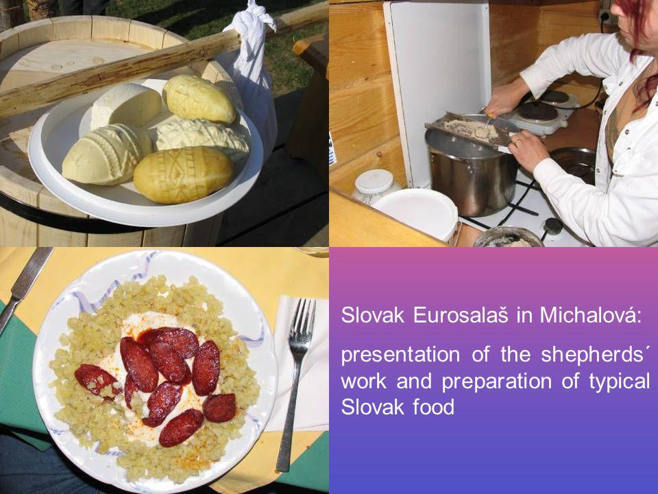 Slovak Eurosalaš in Michalová: presentation of the shepherds´ work and preparation of typical Slovak food