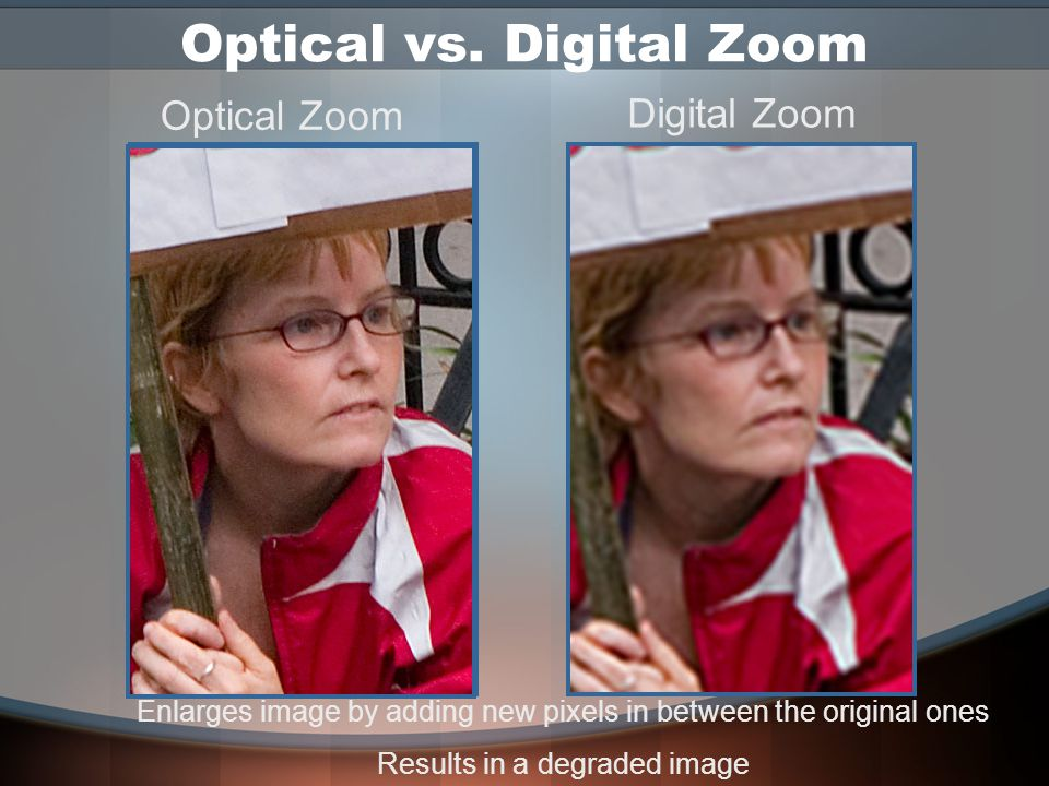 Lenses: Quality Film captures light evenly across its surface Digital sensor can lose light near the edges Use highest quality lenses or dedicated dig