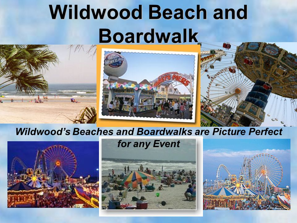 Wildwood Beach and Boardwalk Wildwoods Beaches and Boardwalks are Picture Perfect for any Event