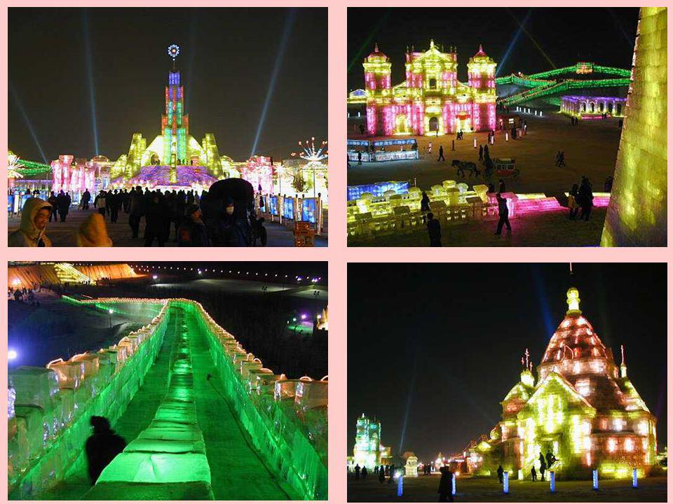 The Ice festival goes over a few kilometer.