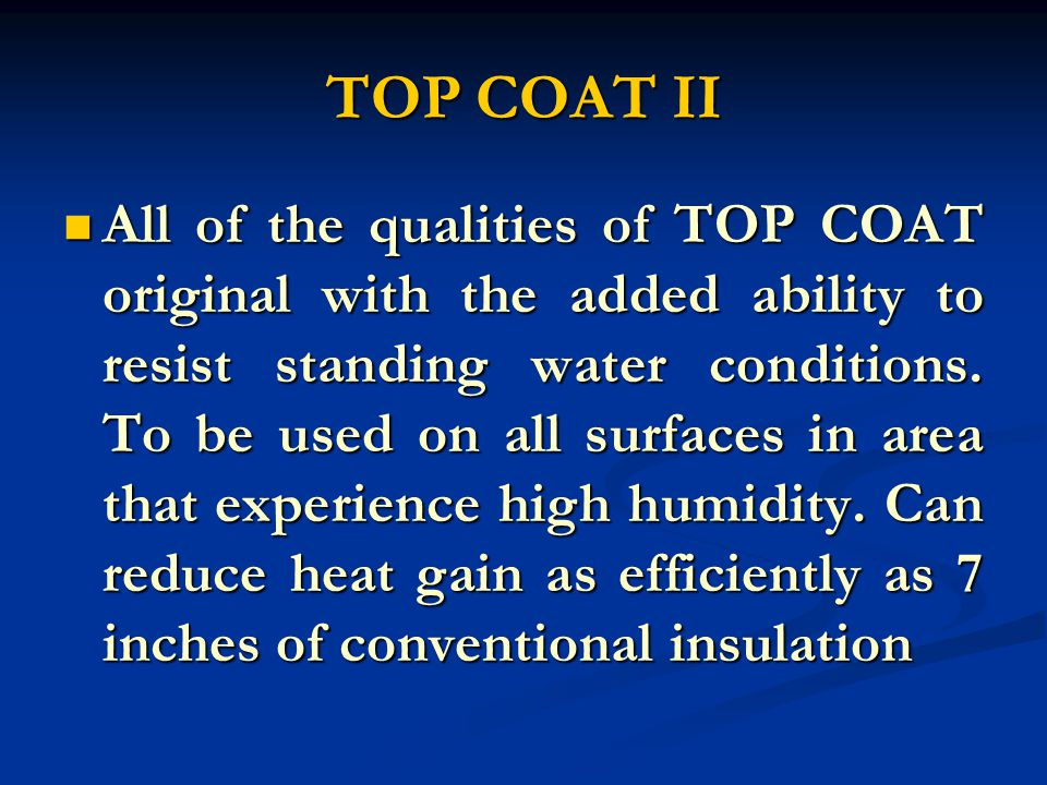 PRIMER 100% acrylic, Elastomeric roof mastic formulated to exhibit hi- adhesion and flexibility.