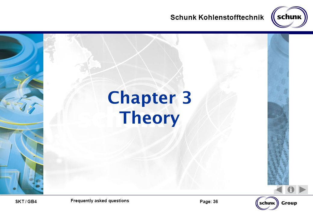 SKT / GB4 Page: 36 Schunk Kohlenstofftechnik Frequently asked questions Chapter 3 Theory