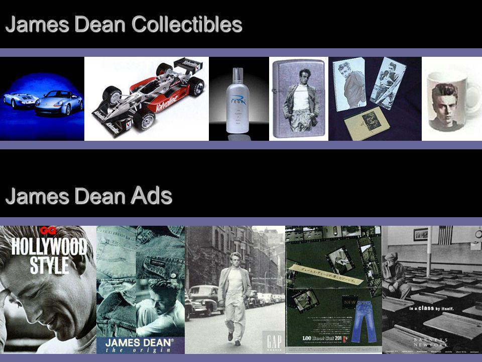 James Dean Collectibles James Dean Ads