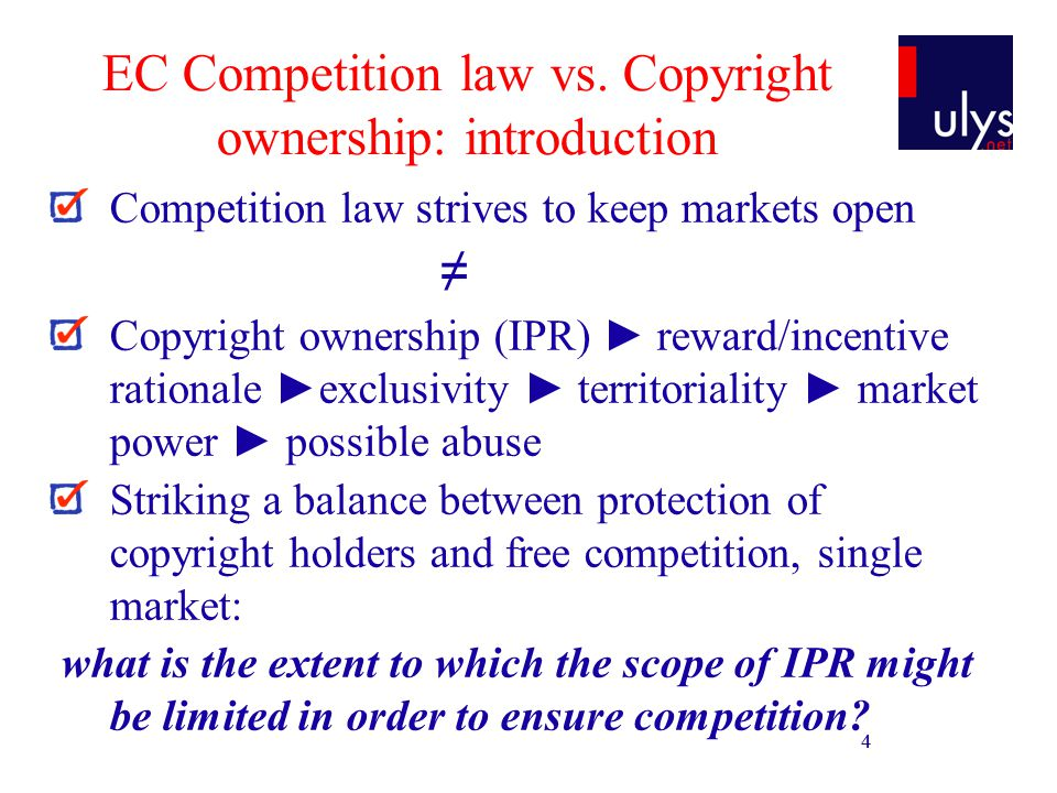 15 Article 82: compulsory licensing Refusal to license info enabling interoperability with Windows operating system to competitors in downstream market work group servers operating system Micr.: IPR = objective justification of refusal to license + Software directive ( full interoperability) Comm.