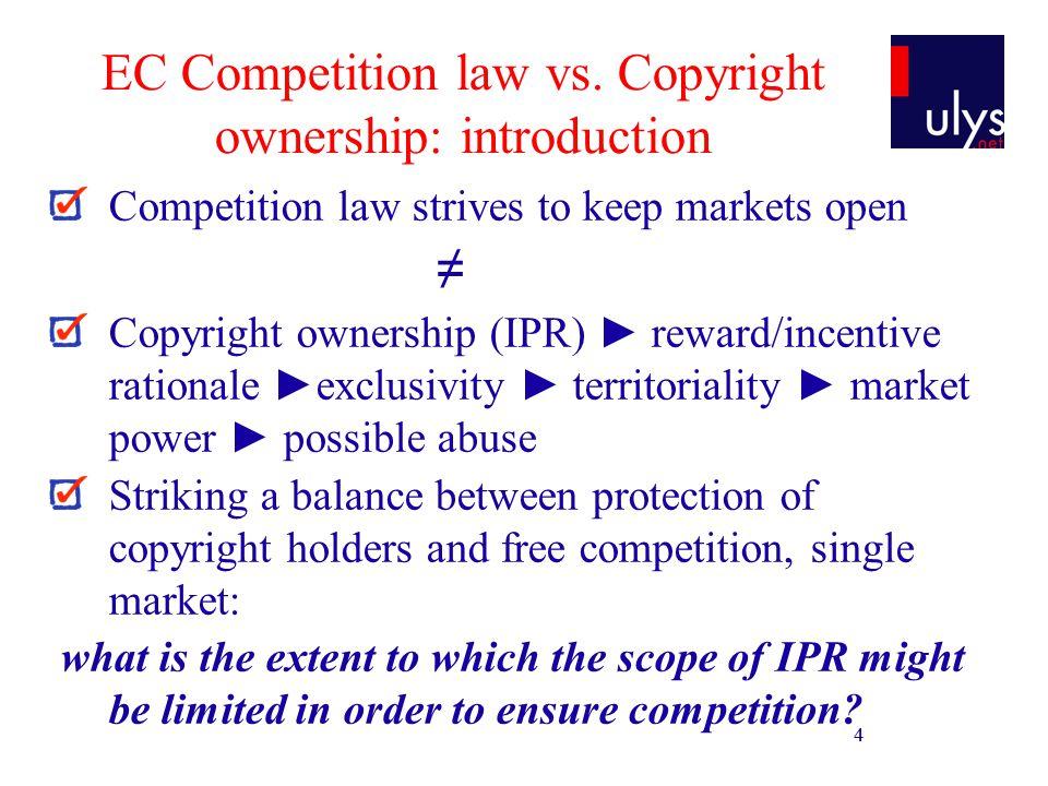 5 EC Competition law vs.