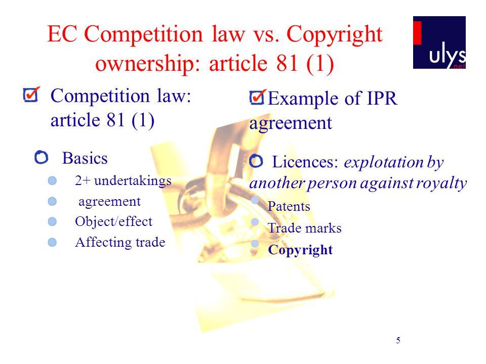 16 EC Competition law vs.
