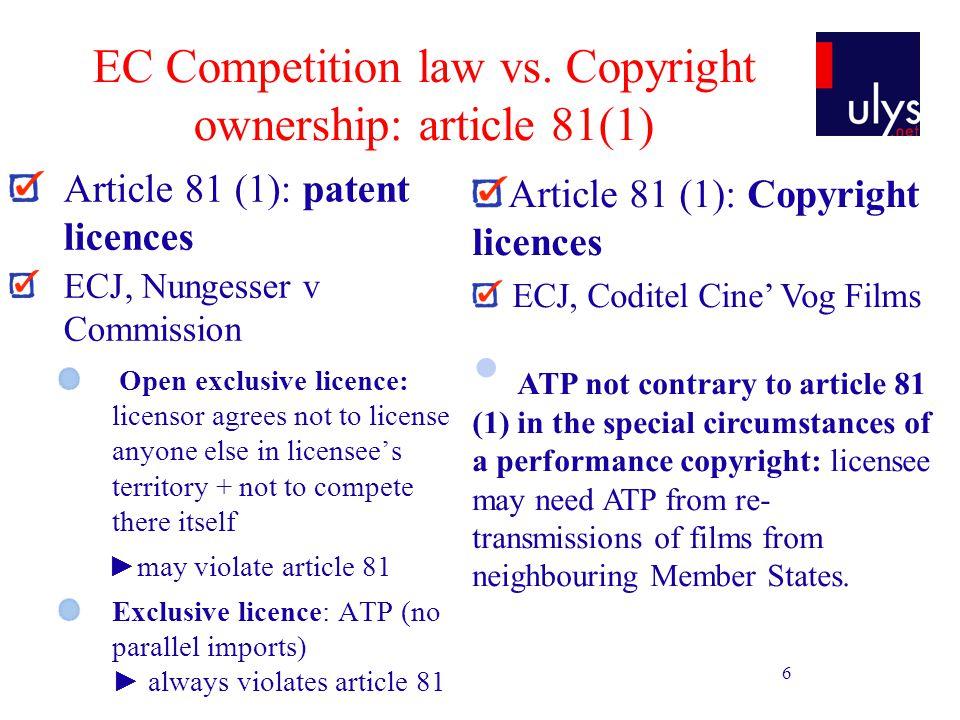 7 EC Competition law vs.