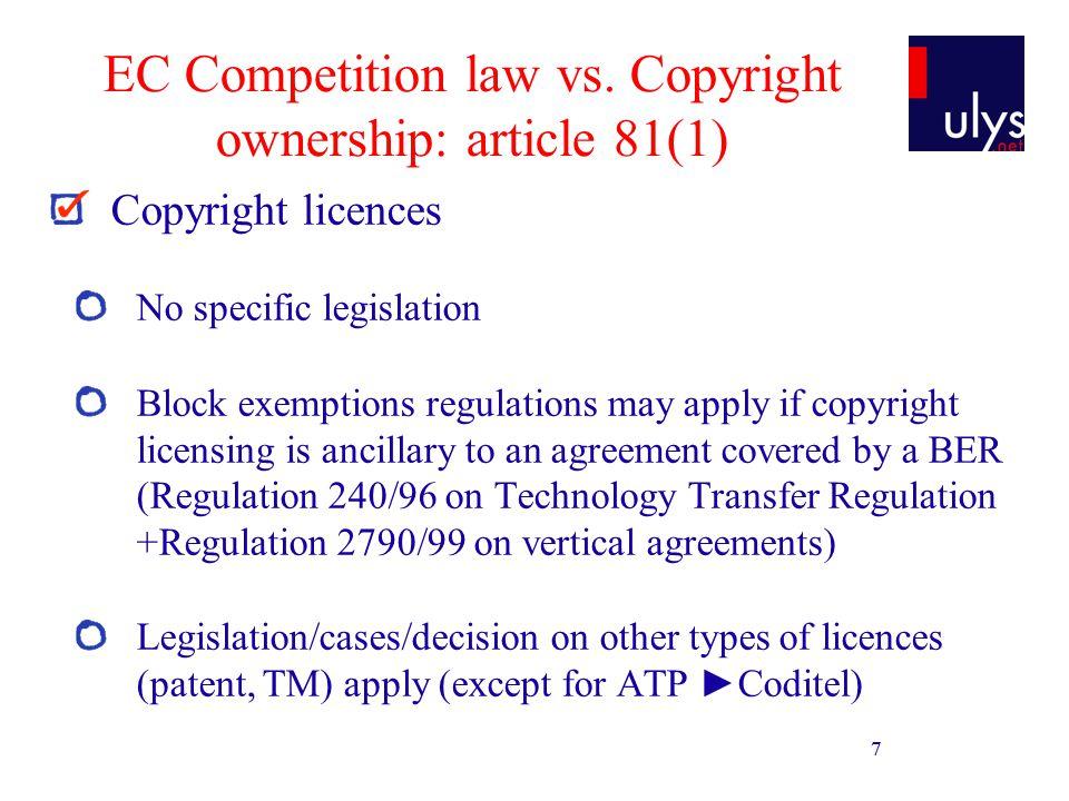 8 EC Competition law vs.