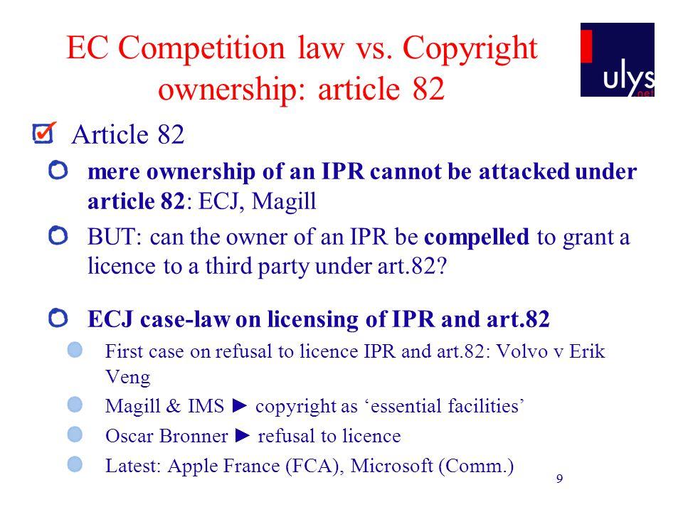 10 EC Competition law vs.