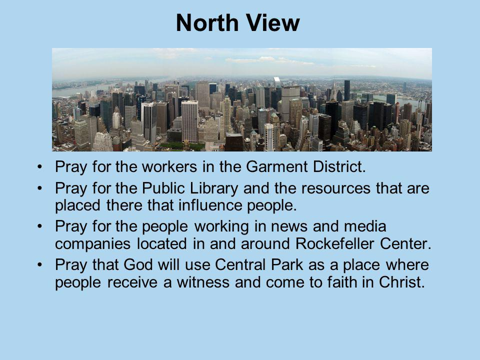 Pray for the workers in the Garment District.