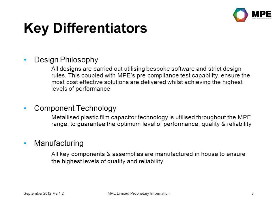 Key Differentiators Design Philosophy All designs are carried out utilising bespoke software and strict design rules.